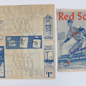 1960 Boston Red Sox Ted Williams Signed Program and Score Card