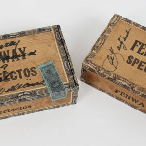 Boston Red Sox Ted Williams Signed Fenway Special Cigar Boxes