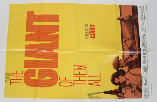Giant Movie Film Lobby Card Starring James Dean, Rock Hudson & Elizabeth Taylor (R-70/293)