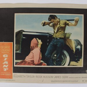 1956 The Giant Lobby Card 56/497 (#6) Taylor, Hudson and Dean (Dean w/Gun)