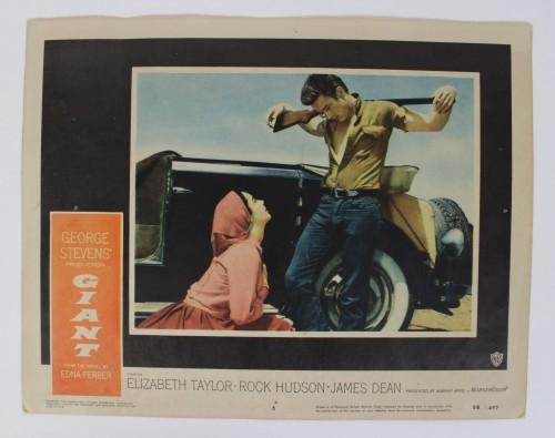 1956 The Giant Lobby Card 56/497 (#6) Taylor, Hudson and Dean (Dean w/Gun)