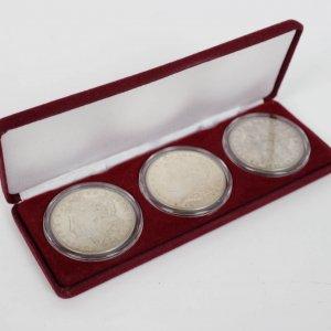 1921 - POS 3 Coin Morgan Silver Dollar with Case