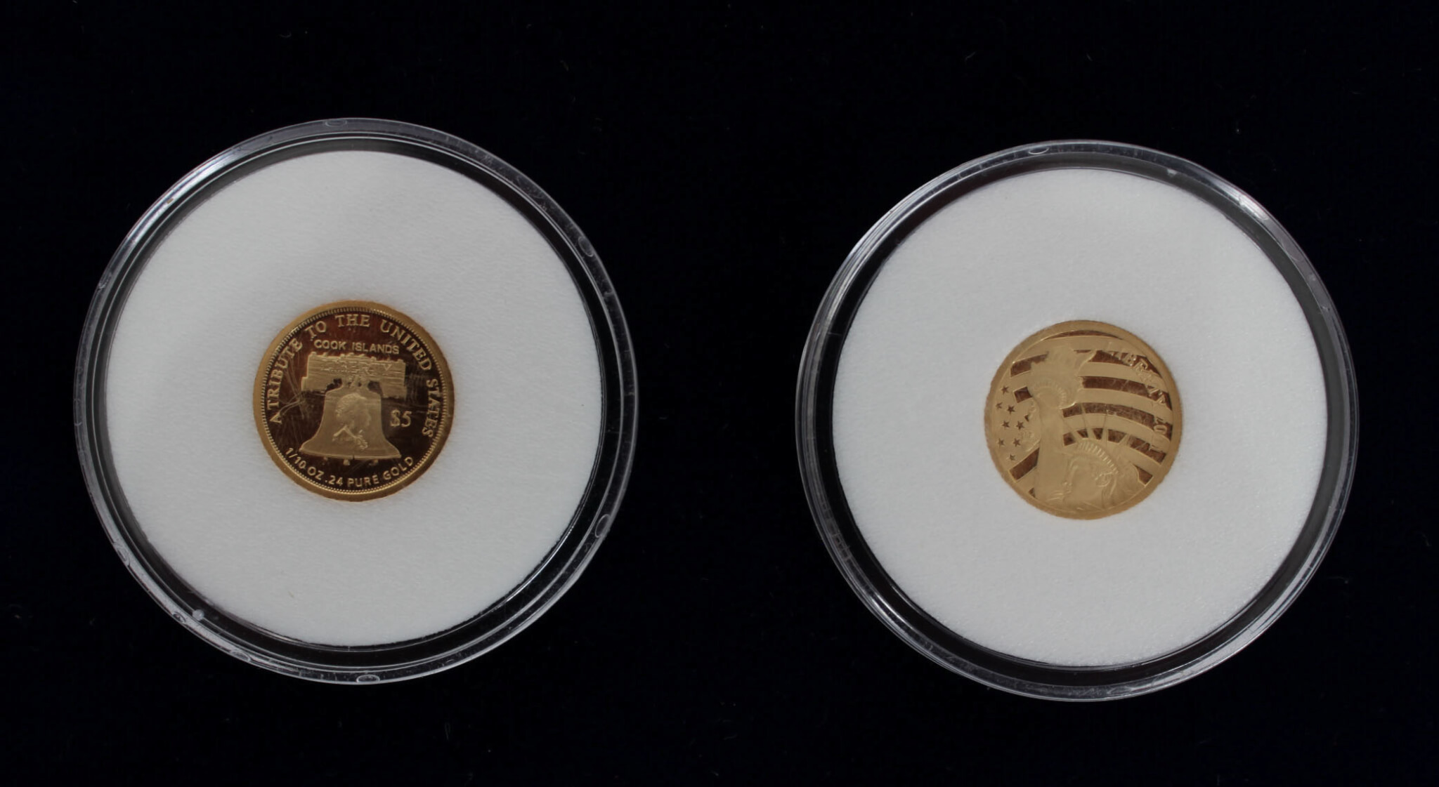 $ 5 American Statue Of Liberty 1/10 Oz Gold Coins8875_01