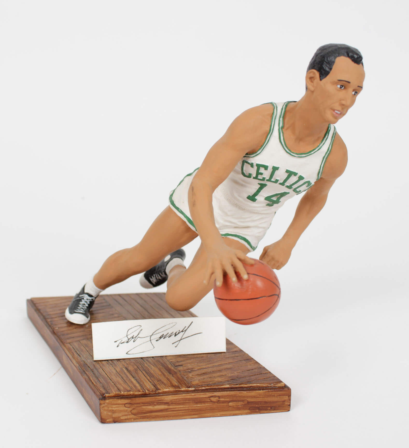 "a3b12ce9c Boston Celtics Bob Cousy Signed Limited Edition ""Smooth Operator"" Figurine   266 950"