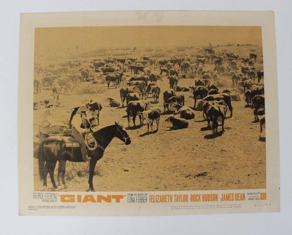 The Giant Movie Lobby Card R-63/66 Dean, Taylor, Hudson