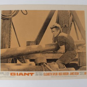 "The Giant Movie Lobby Card Set (1- 8 Missing ""4"") R-63/66 Dean, Taylor and Hudson"