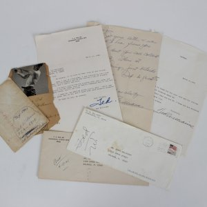 Red Sox Ted Williams TLS and Handwritten Letters (3) w/Envelopes COA Green Diamond