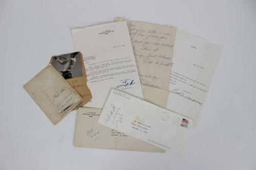 Red Sox - Ted Williams TLS and Handwritten Letters (3) w/Envelopes- COA