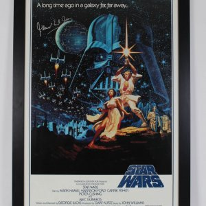 James Earl Jones Signed Star Wars 28x40 Movie Poster