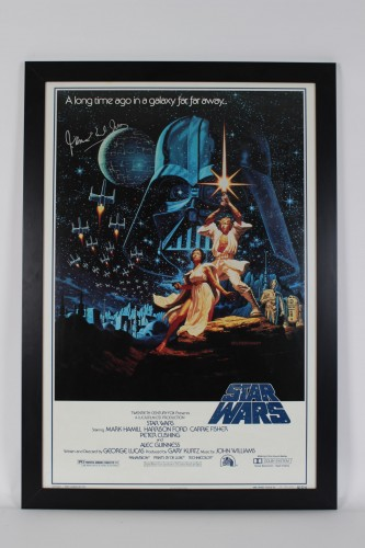 Star Wars Movie Poster Signed by Voice of Darth Vader James Earl Jones