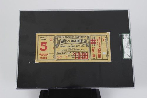 Sept. 18, 1946 Joe Louis vs Tami Mauriello Fight Ticket SGC