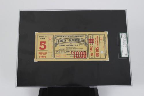 Sept. 18, 1946 Joe Louis vs Tami Mauriello Fight Ticket SGC