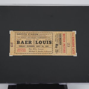 May 23, 1941 Joe Louis vs Buddy Baer Full Ringside Ticket SCG
