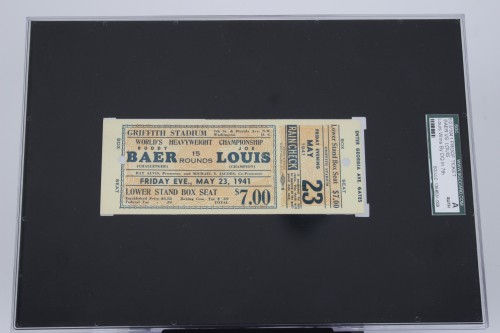 May 23, 1941 Joe Louis vs Buddy Baer Fight Ticket SGC