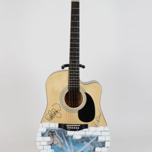 "Pink Floyd ""The Wall"" Signed Acoustic Guitar Waters, Wright, Mason"