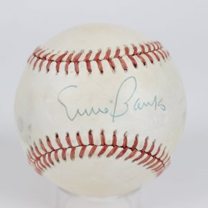 Chicago Cubs Ernie Banks Signed Baseball