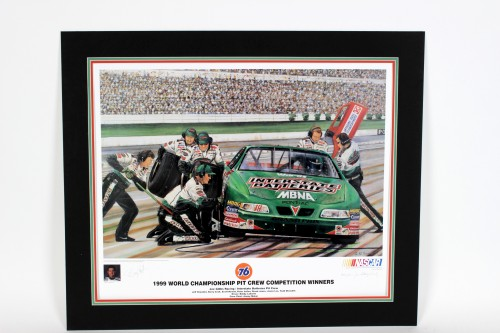 NASCAR Pit Competition Limited Edition Autographed Print By Bobby Labonte -COA