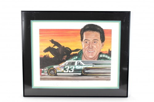 "NASCAR- Harry Gant ""Skoal Bandit"" Signed 24x30 LE Print ""The Last Ride"" - COA"