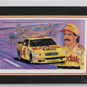 NASCAR Ernie Irvan Signed Limited Edition Print by Sam Bass