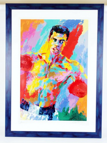 Muhammad Ali & Leroy Neiman Signed Serigraph in a 40x46  Display