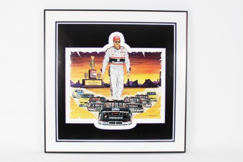 "NASCAR Dale Earnhardt Sr ""The Magnificent Seven!"" LE Print Signed By Sam Bass- JSA"