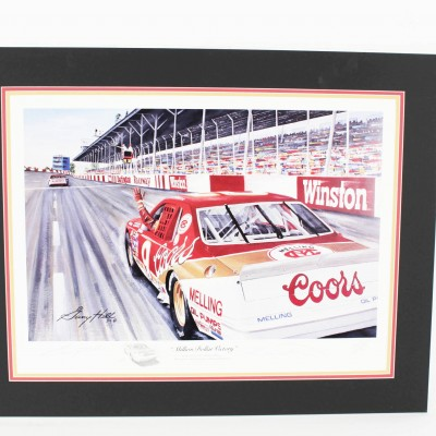 NASCAR Bill Elliott Signed Print By Artist Garry Hill