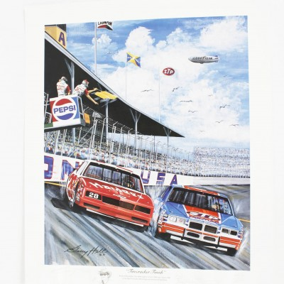 "NASCAR Richard Petty Signed Limited Edition ""Fire Cracker Finish"" Print by Artist Garry Hill"