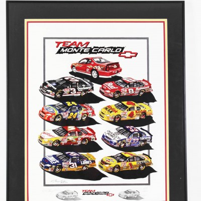 NASCAR Team Monte Carlo Limited Edition Print Signed By Garry Hill