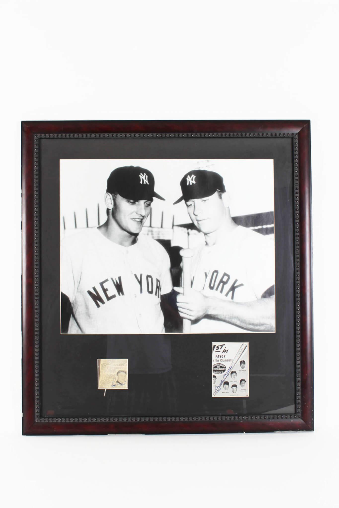 New York Yankees- Mickey Mantle & Roger Maris Signed 28x32 Photo - JSA