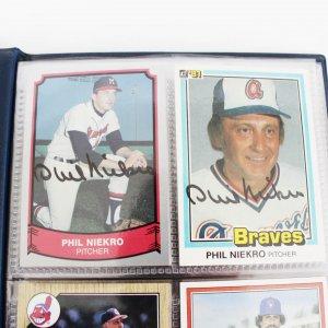 Baseball Hall of Famers Signed Baseball Cards