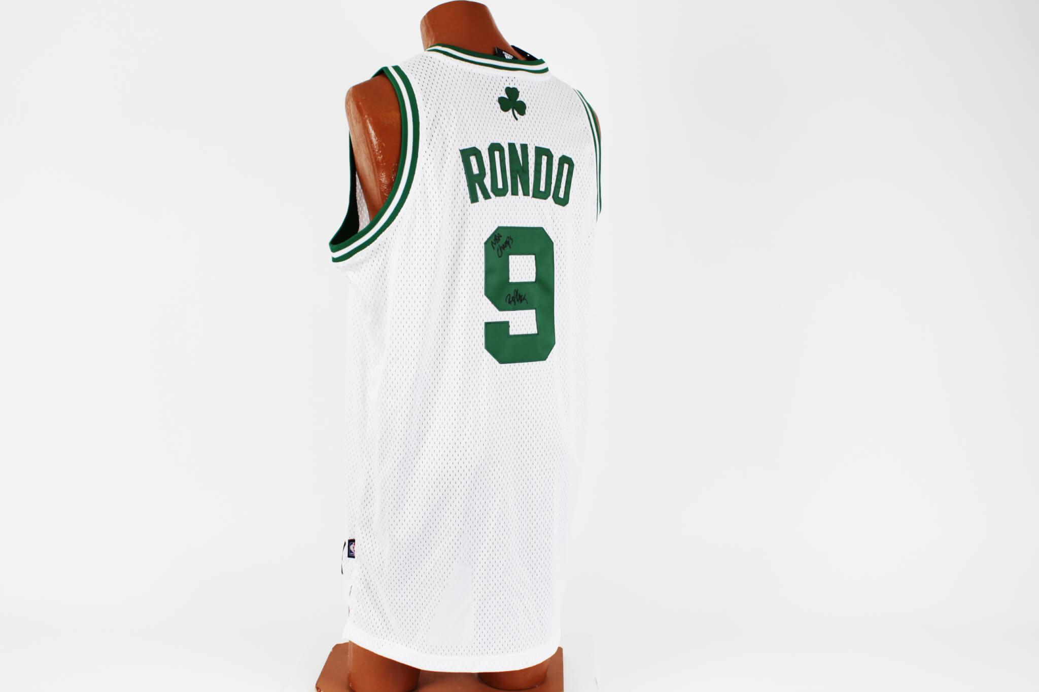 "10adf71d1ccf Boston Celtics – Rajon Rondo Signed   Inscribed ""NBA Champs"" Jersey ..."