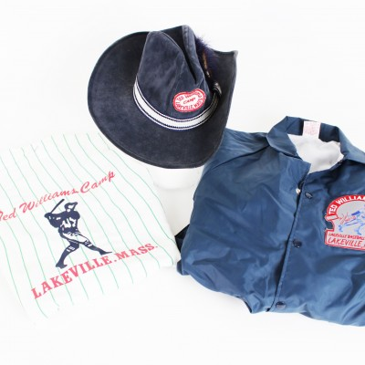 Boston Red Sox - Ted Williams Baseball Camp Lot Includes Signed Letter, Jacket, Shirt & Cowboy Hat