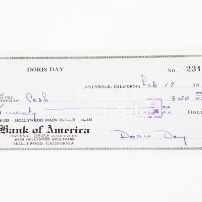 Pillow Talk - Doris Day Signed Check - COA