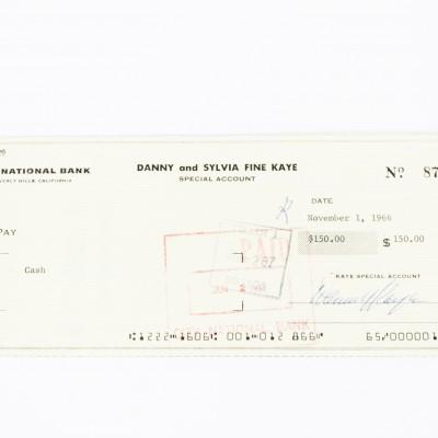 White Christmas - Danny Kaye Signed Check (COA)