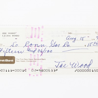 Boston Red Sox - Smoky Joe Wood Signed Check - COA