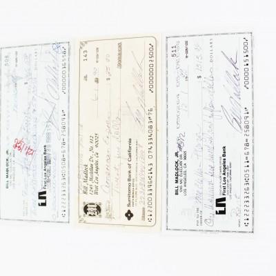3 Pittsburgh Pirates Bill Madlock Signed Checks - COA
