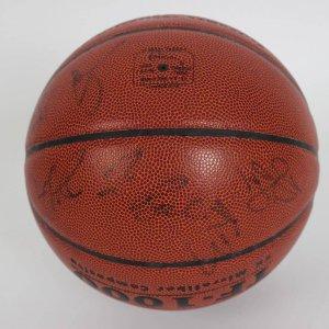 2008 USA Men's Olympic Team (Gold Medal Winners) Team-Signed Spalding USA Basketball 13 Sigs. Incl. Kobe Bryant, Dwayne Wade, Jason Kidd, Mike Krzyzewski et al. (JSA Full LOA)