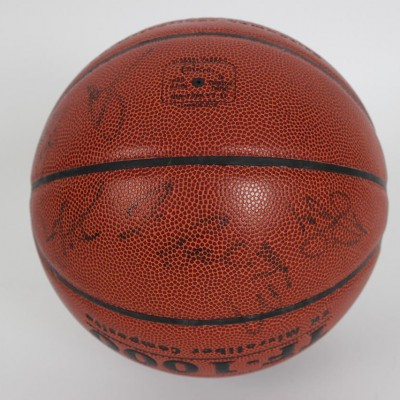 2008 USA Men's Olympic Team (Gold Medal Winners) Team-Signed Spalding USA Basketball 13 Sigs. Incl. Kobe Bryant, Dwayne Wade, Jason Kidd, Mike Krzyzewski et al. (JSA Full LOA)
