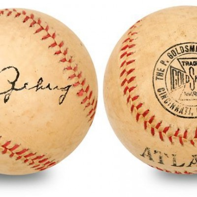 Lou Gehrig Signed Baseball PSA