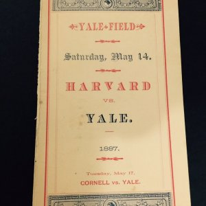 1887 Yale Field Baseball Scorecard w/ Pitcher Amos Alonzo Stagg