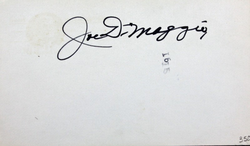 Joe DiMaggio Signed 3x5 Index Card Yankees BOLD Mint 10/10 Autograph