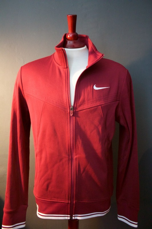 A Roger Federer Game-Used Custom Nike Tennis Warm-Up Jacket.  2011 French Open (Men's Singles Runner-Up).