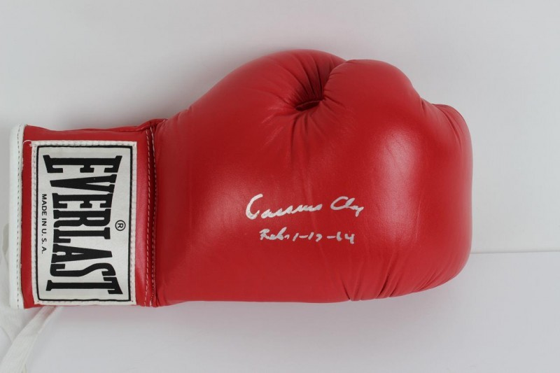 Muhammad Ali - Signed & Inscribed (Feb 1-17-64) as Cassius Clay on 1985 Everlast Red Boxing Glove