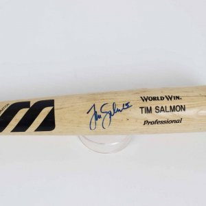 Los Angeles / Anaheim Angels - Tim Salmon Game-Used & Signed Mizuno Bat