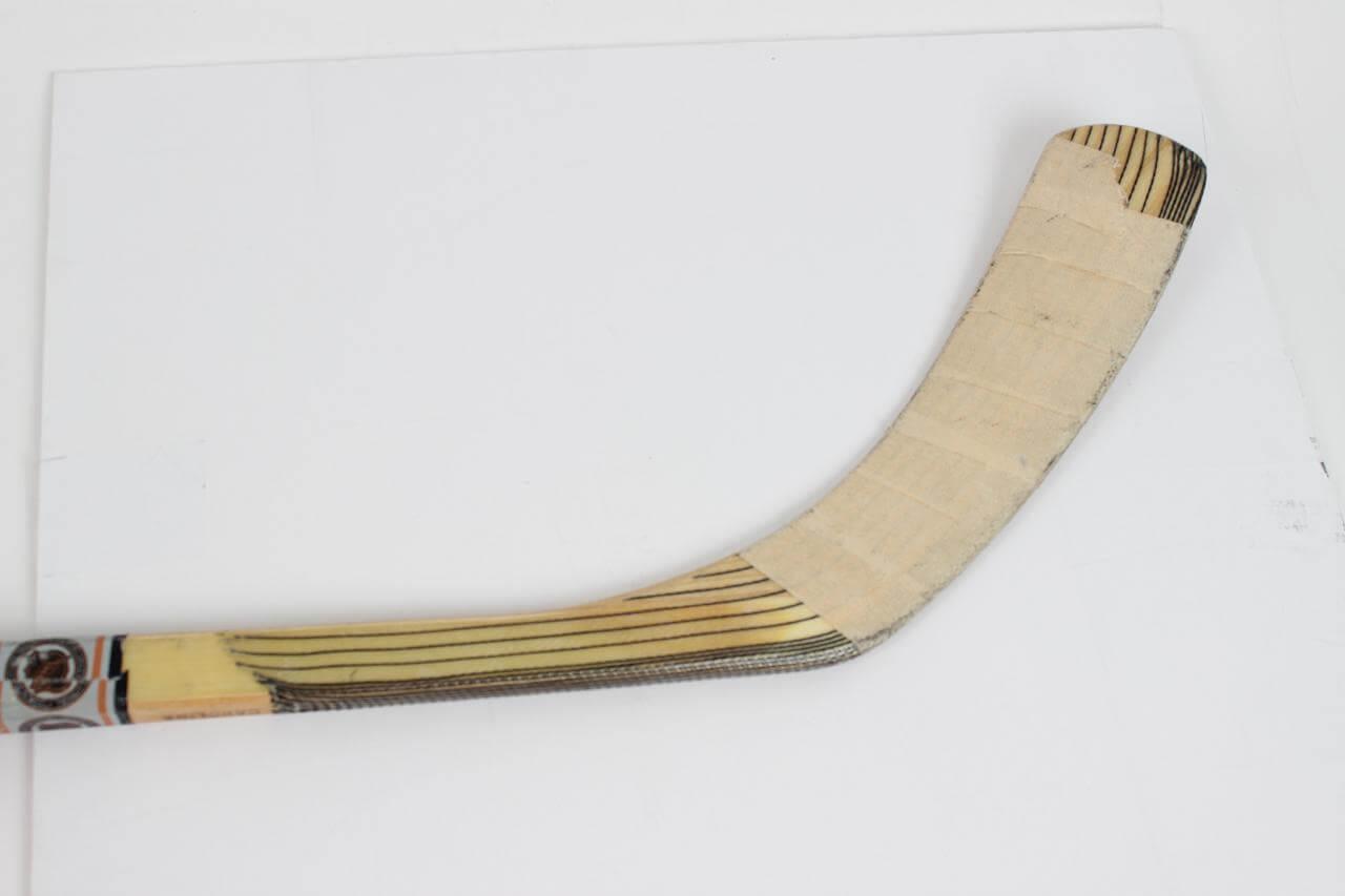 Paul coffey game used hockey stick carolina hurricanes for Used lumber los angeles