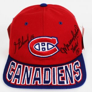 Montreal Canadiens - Maurice & Henri Richard (NHL HOF Brothers) Signed Cap Hat