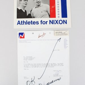 1968 Boston Red Sox Ted Williams Signed Athletes for Nixon Document