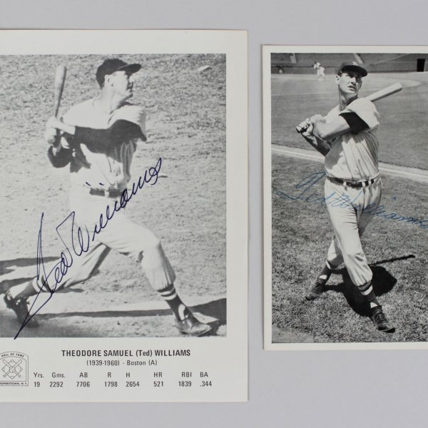 Boston Red Sox Ted Williams Signed 5x7 Photo &  (1 Stamped Photo)- JSA
