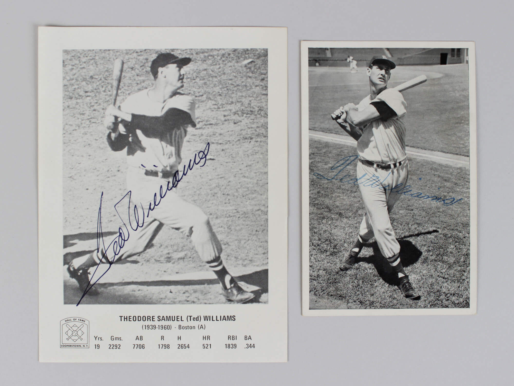 Ted Williams Signed Photos & (1 Stamped Photo) Red Sox - COA JSA