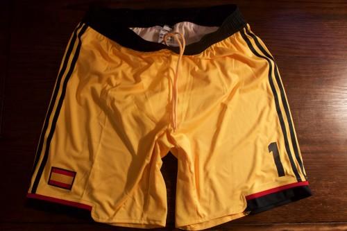 A Pair of Iker Casillas Game-Used #1 Spain International Shorts.  UEFA Euro 2012.